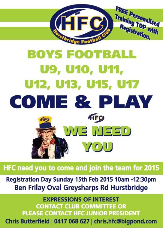 2015 Boys Registration