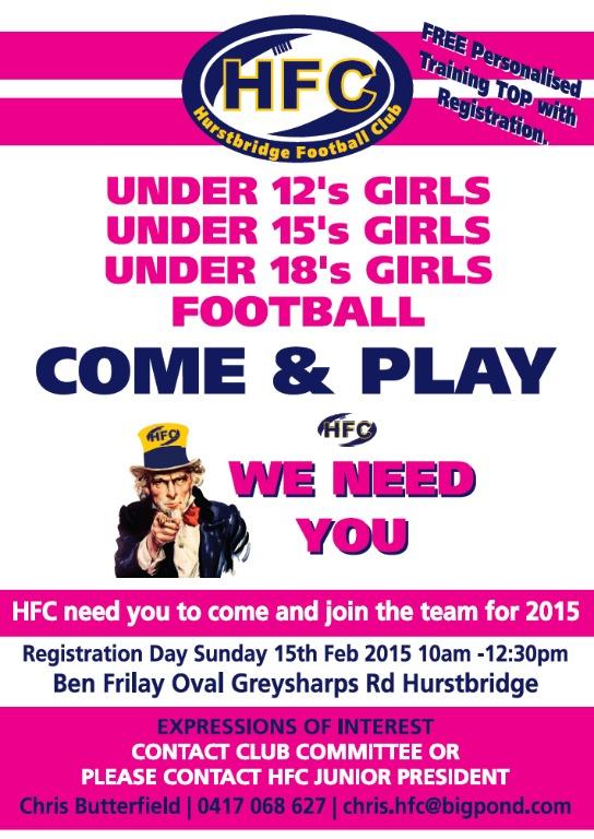 2015 Girls Registration