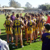 GCJFL U14 Huddle w coach Gerard Butts