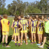 GCJFL U15 Huddle w Coach Paul McGrath