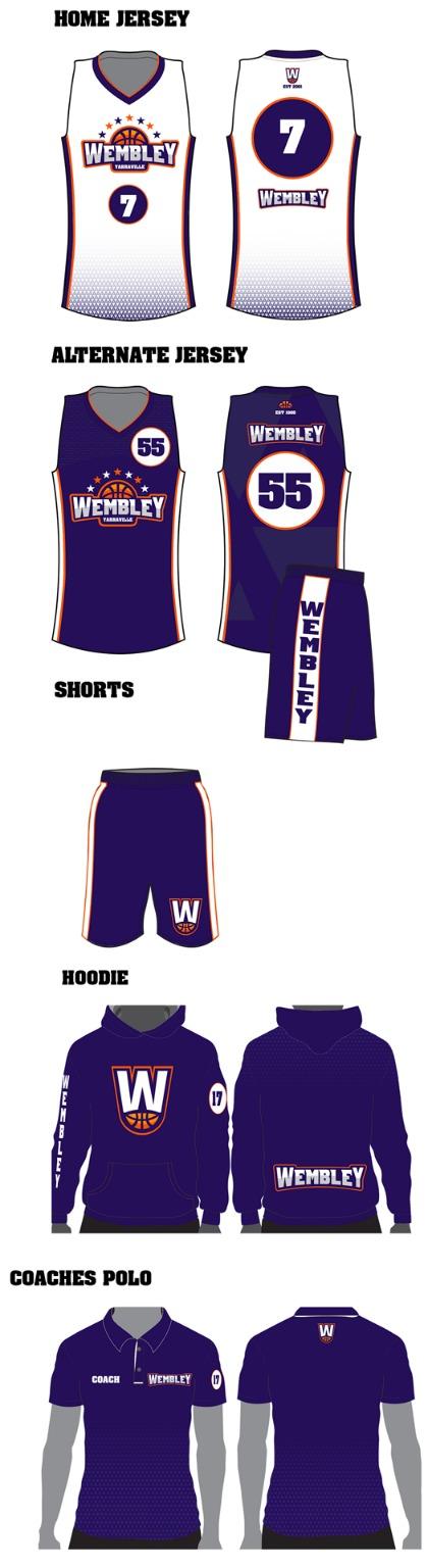 New uniform, white and navy