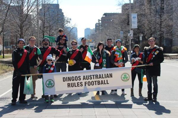 Toronto Dingos with family and friends celebrating St Patrick's Day 2017