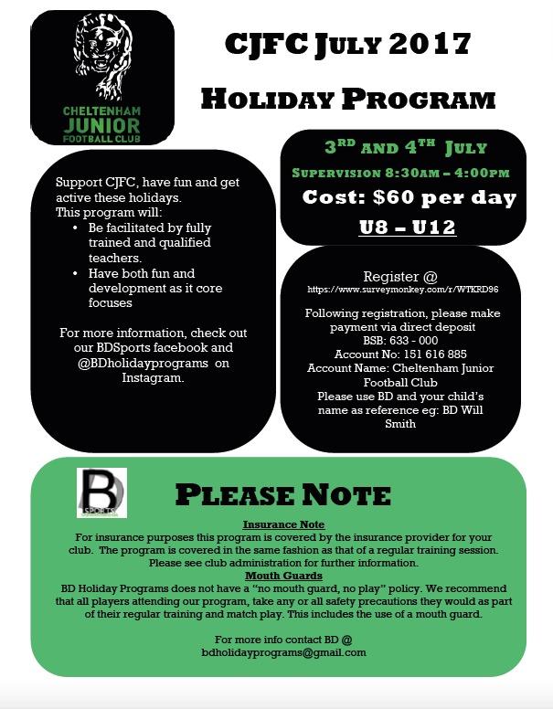 July Holiday Program 2017