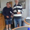 2nd place Tom Hinton with Commodore Chris Laker